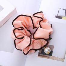Fashion Pearl Accessories Women Elastic Hair Rope Ring Tie Headwear Scrunchie Ponytail Holder Band Headband Cheveux