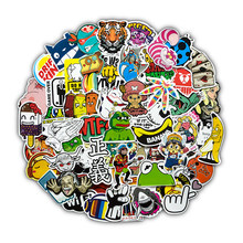 Random Color Styles Stickers for Laptop Suitcase Phone Car Bike Motorcycle Cool JDM Kids Graffiti Sticker Bomb Decals (50PCs)(China)