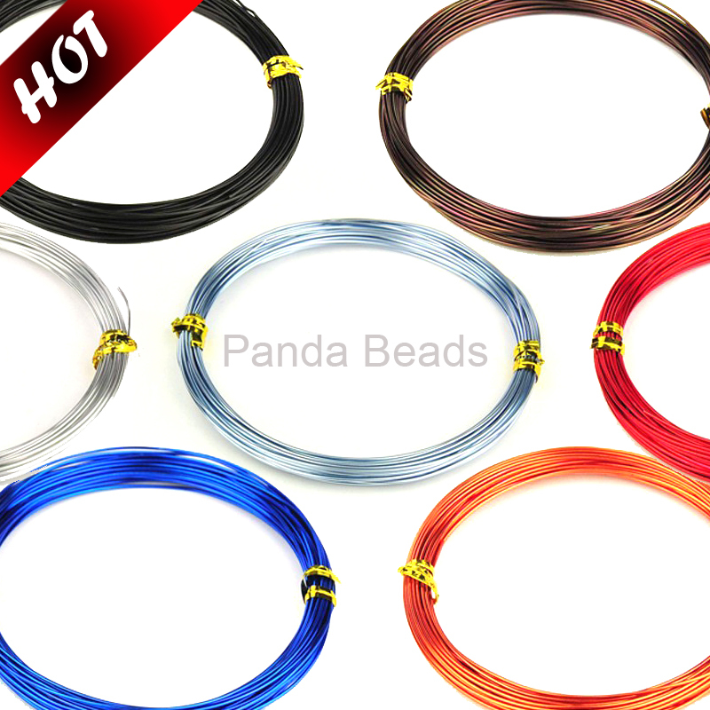 0.8mm, 10m/roll HOT Sale Discount Aluminum Jewelry Accessories Findings Metal Beading DIY Wires, Silver/Blue/Black/Red Wholesale