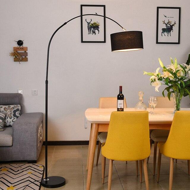Simple modern  vertical platform North European style living room bedroom study creative remote control fishing floor lamp