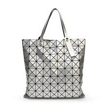 European Style Women Bag tote Big Geometric Issey Miyak Bag Luxury Brand Designer High Quality Handbag Bags