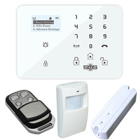 4G 3G GSM Home Alarm System With Phone App Touch Keypad Alarm System With Dial To