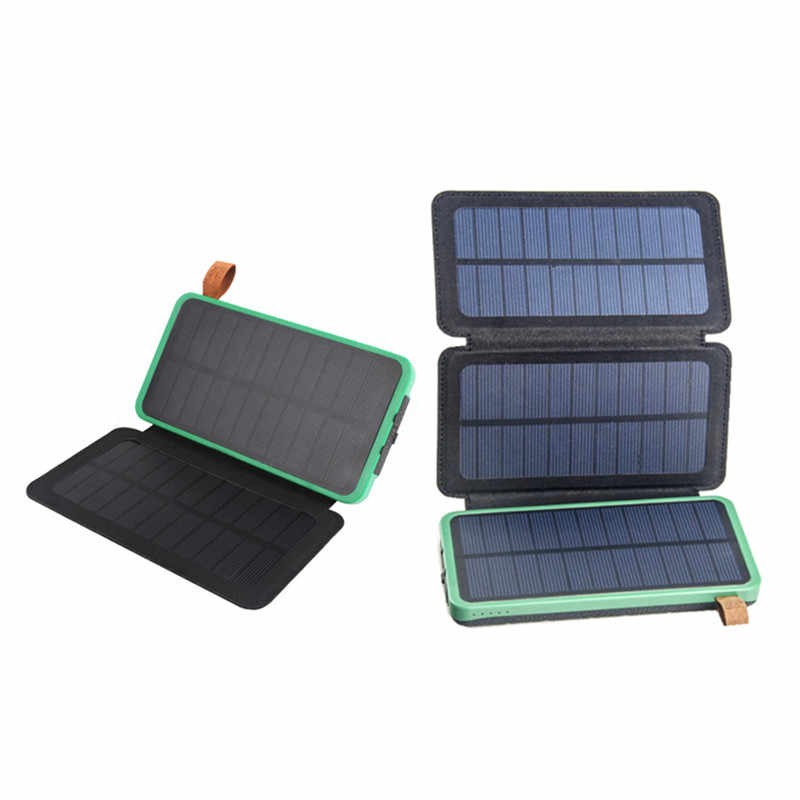 5V 2.1A 10W Folding Foldable Waterproof Portable Solar Panel Charger Mobile Power Bank for Phone Battery Dual USB Outdoor