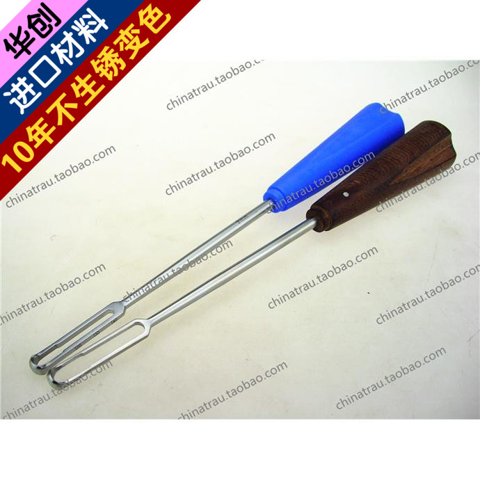 Medical orthopedics instrument stainless steel spine scraper Lumbar fusion device wooden handle