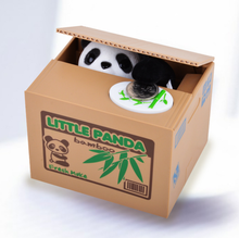 Caixa de cofrinho de moeda infantil de panda itazura