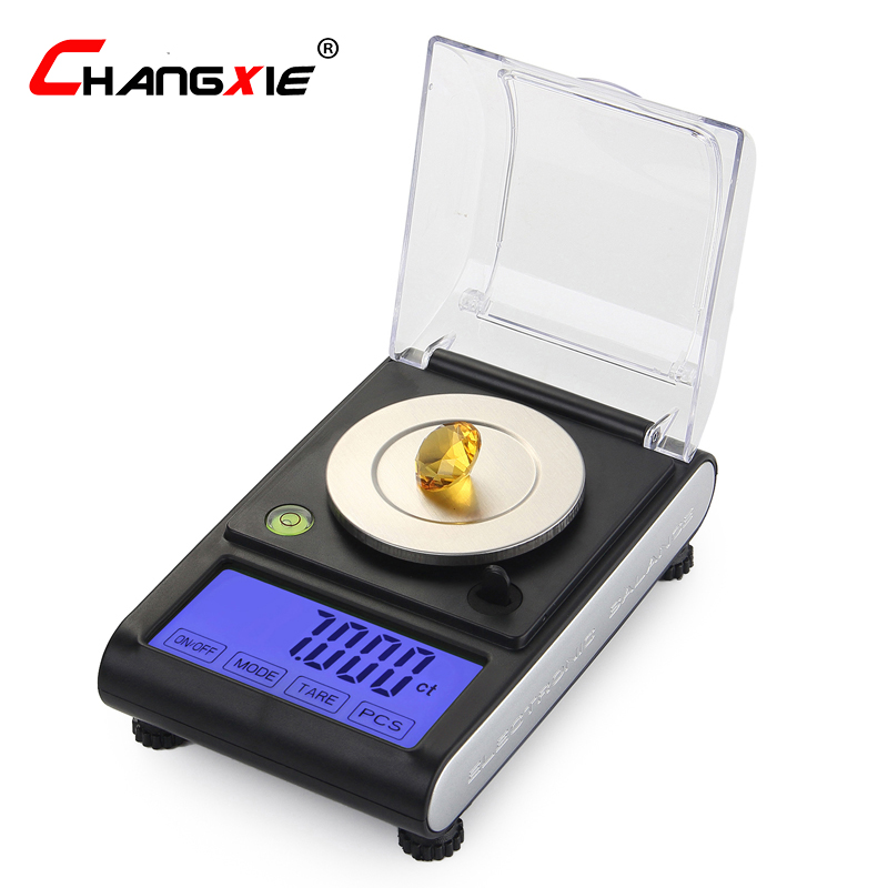 Laboratory Balance Scale 50g/0.001g High Precision Jewelry Diamond Gem LCD Digital Electronic Scale Counting Function Portable 800g electronic balance measuring scale with different units counting balance and weight balance