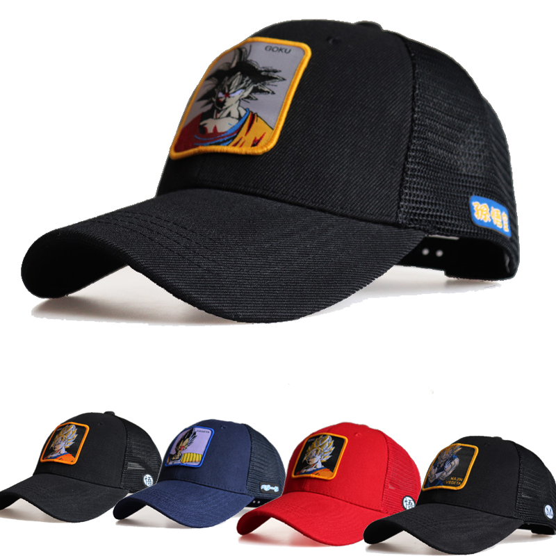 2019 New Dragon Ball Mesh Hat Cool Boy Girls Goku Vegetto Lunch   Baseball   Hats Outdoor Men Snapback   Cap   Unisex