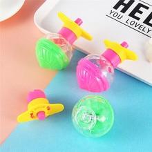 1 piezas divertido clásico nostálgico niños Spinning Top juguetes educativos Super-Rotación de expulsión Gyro regalo al azar Color