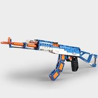 Toy gun AK assault rifle puzzle building block small particles
