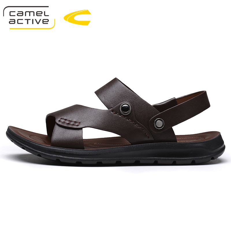 Camel Active Brand Summer Casual Male Sandals For Men Shoes Genuine Leather Quality Walking Beach Comfortable Designer Sandals 10