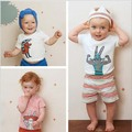 newest 2017 baby boys girls summer 100% cotton T-shirts PARTY ANIMAL charactor design kids fashion cute lovely T shirts 1-6Y