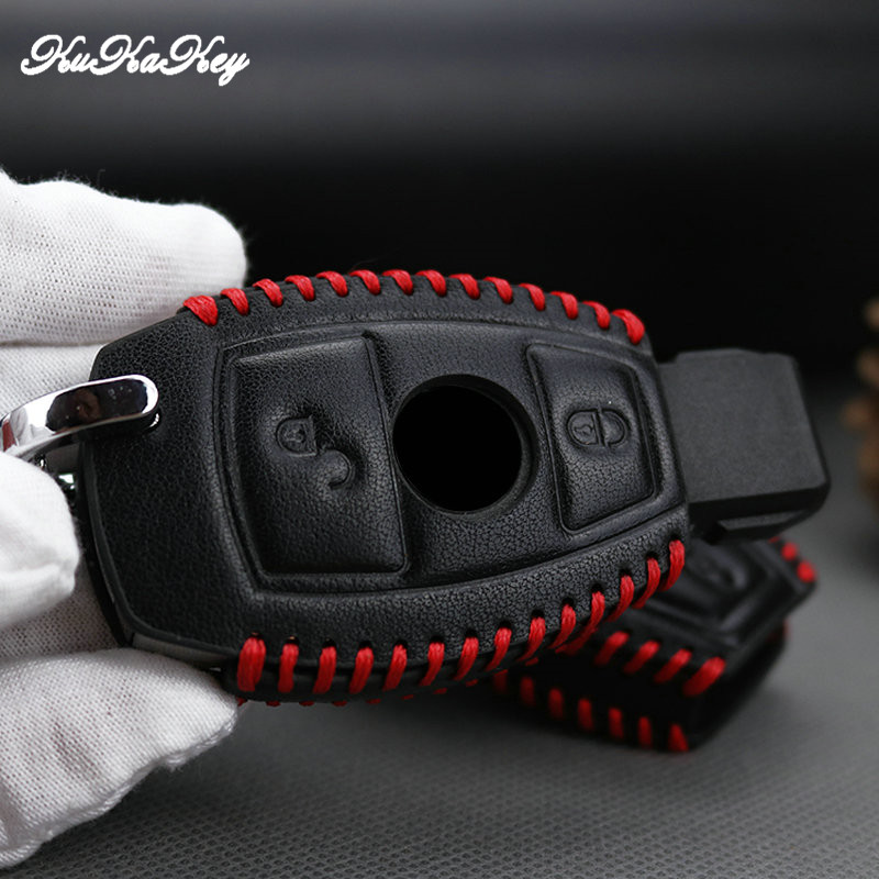 Hight quality Leather Car Key Cover Case For Mercedes benz A B R G Class GLK GLA w204 W251 W463 W176 Remote Holder Accessories in Key Case for Car from Automobiles Motorcycles