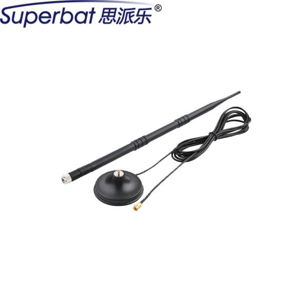 Superbat 850 1900 900 1800 2100 Mhz GSM UMTS HSPA CDMA 3G antena 9dbi Booster de Señal de la Antena RP SMA Macho con Base Magnética nueva