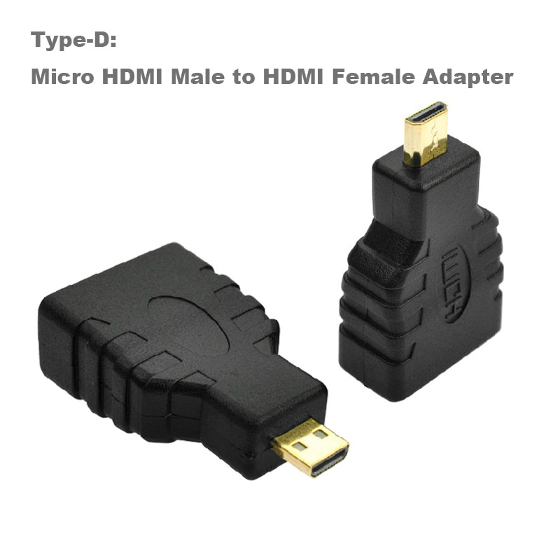 1pc 19pin HDMI Female to Female Straight Double Female Gold Adapter Converter