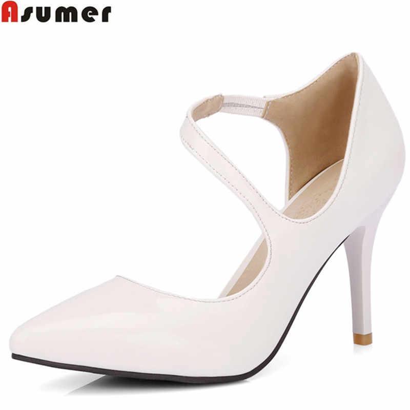 8d564a5e434 ASUMER plus size 34-46 fashion pointed toe shallow pumps shoes woman  elegant wedding shoes