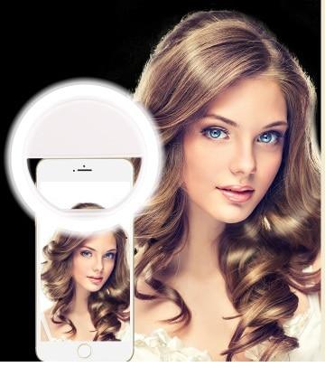 Selfie Ring Mirror Makeup <font><b>Case</b></font> For Huawei P10 Lite Plus Y3 <font><b>Y5</b></font> 2017 Y7 Ascend XT LED Light Flash UP Android Mobile <font><b>Phone</b></font> Cover
