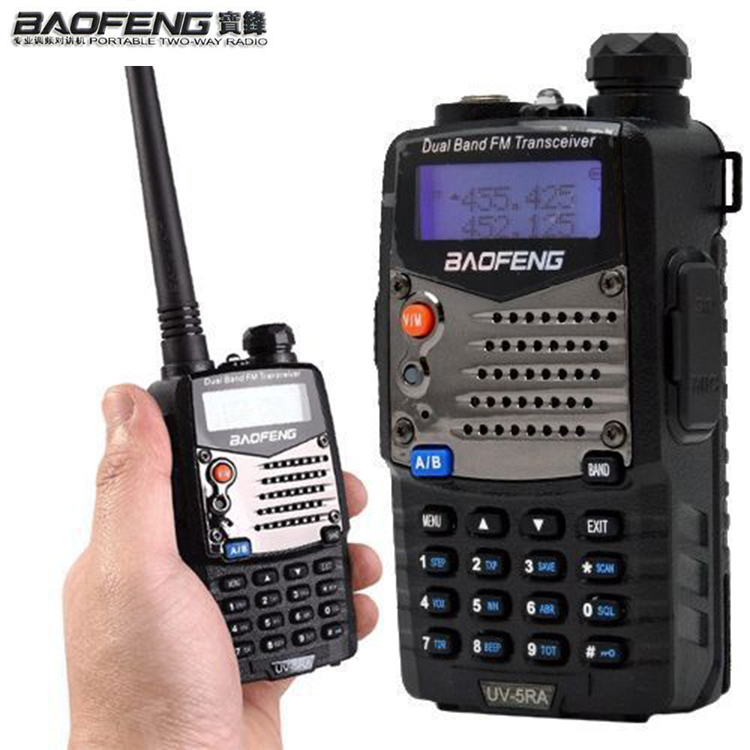 New walk talk Pofung Baofeng UV-5RA For Police Walkie Talkies Scanner Radio Vhf Uhf Dual Band Cb Ham Radio Transceiver 136-174 Shoe Bags