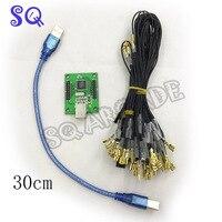 50 шт. 30 см usb кабель 2 шт. USB 2 игрока кодер JAMMA контроллер адаптер игровых автоматов аксессуары для ПК Малина PI 3 игры ca