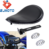 Universal Motorcycle Solo Driver Seat Covers For Harley Honda Yamaha Custom Chopper Bobber Cafe Racer
