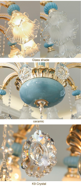 Image 5 - Sala de jantar lustre luz moderna iluminação do quarto lâmpada  cristal luzes da sala estar nordic decoração lâmpadas casaLustres   -