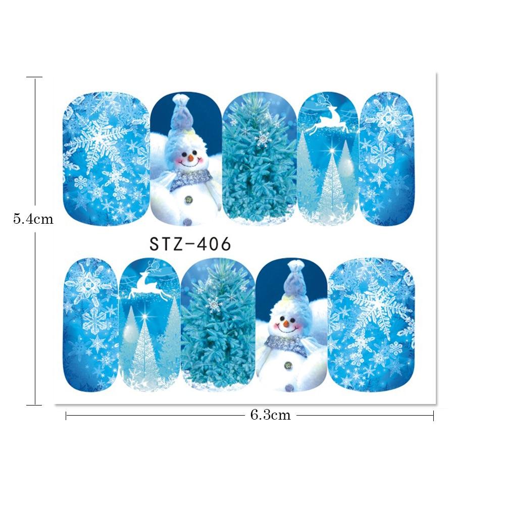 aliexpress com buy 1 sheets xmas series nail water sticker snow