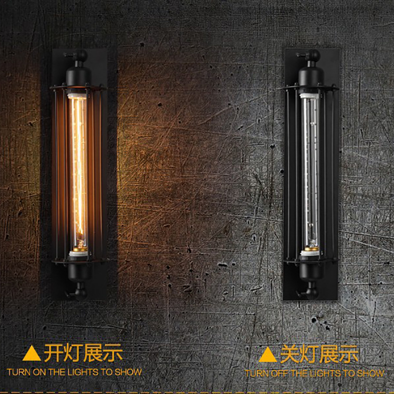 Industrial vintage wall light bra iron loft lamps bedroom corridor bar aisle warehouse restaurant pub cafe wall lamp wall sconce in LED Indoor Wall Lamps from Lights Lighting