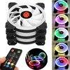 New 3pcs Computer Case PC Cooling Fan RGB Adjust LED 120mm Quiet IR Remote High Quality