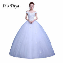 Free Shipping Bling Flowers Boat Neck Wedding Dresses 2017 Bridal Frocks Real Photo Custom Made Vestidos De Novia Y1118