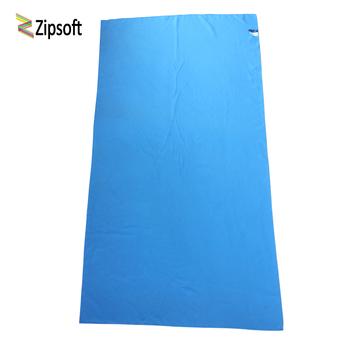 Zipsoft ręcznik plażowy tkanina podróżna z mikrofibry szybkoschnący na zewnątrz sport pływanie Camping kąpiel joga mata koc siłownia dorośli 2019 tanie i dobre opinie Plain Woven Roll 260g OPP bag or Mesh Bag Machine Washable Quick-Dry Compressed 26 s-30 s Stałe Microfiber Fabric Plain Dyed