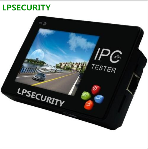 LPSECURITY Portable Wrist 3.5 Touch LCD Monitor IP camera Network Analog CCTV Camera Tester Built in WIFI / PTZ Control frees shiping new product pro security 2 in 1 cvbs ipc cctv tester 7inch ipc touch screen camera video ptz tester