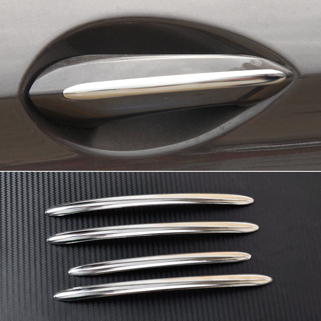 CITALL Car Styling 4Pcs Exterior Door Handle Molding Trim Cover For BMW 5 Series F10 F11 F18 2011 2012 2013 2014 2015 2016 2017