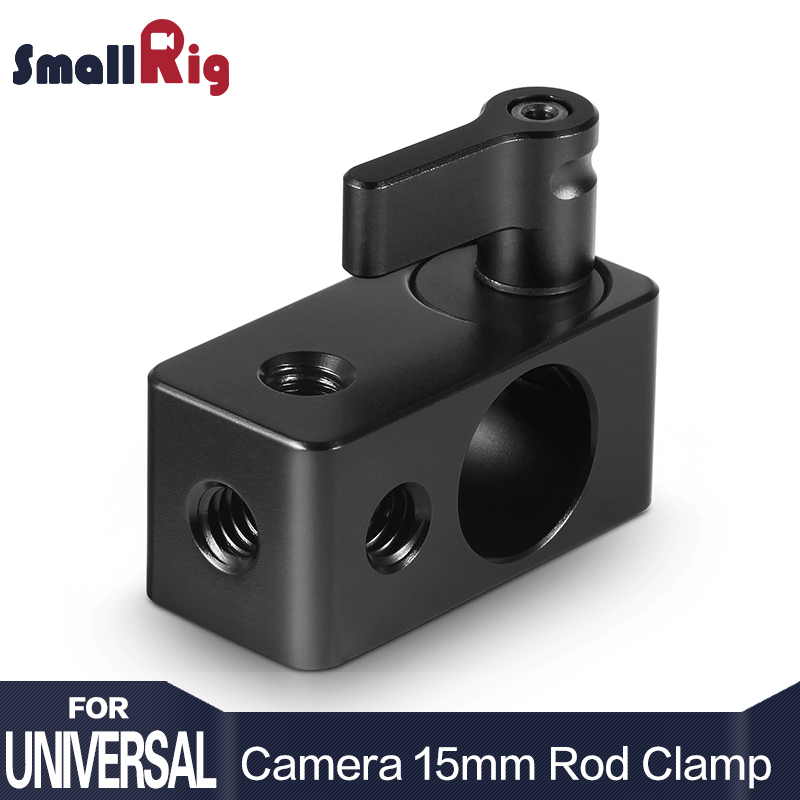 SmallRig Single Rod Clamp 15mm Rail Connector Adapter w/ Four 1/4-20 Threads for 15mm Dslr Rig, Wingnut Black - 843SmallRig Single Rod Clamp 15mm Rail Connector Adapter w/ Four 1/4-20 Threads for 15mm Dslr Rig, Wingnut Black - 843