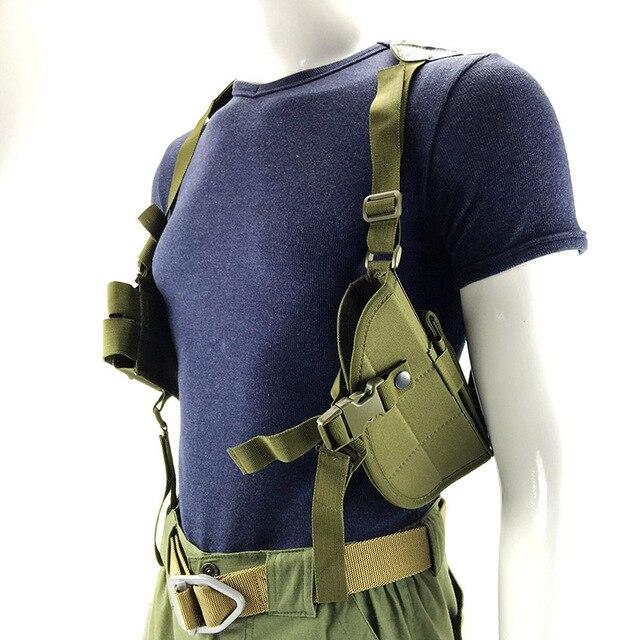 Outdoor Hunting Sports Universal Gun Armpit Holster Pouch Bag Horizontal Shoulder Pistol 5color