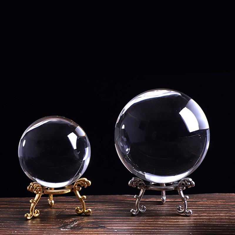 60/80/100mm Crystal Ball Glass Ball Decorative Ball Mini Glass Balls Magic Divination Props Photographic Crystal Sphere