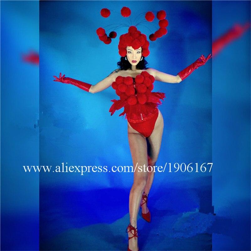 Рождественский DJ певец, танцор, представление, шоу, одежда, платье для вечеринок, ночных клубов, наряды, головной убор, комбинезон, сексуальн