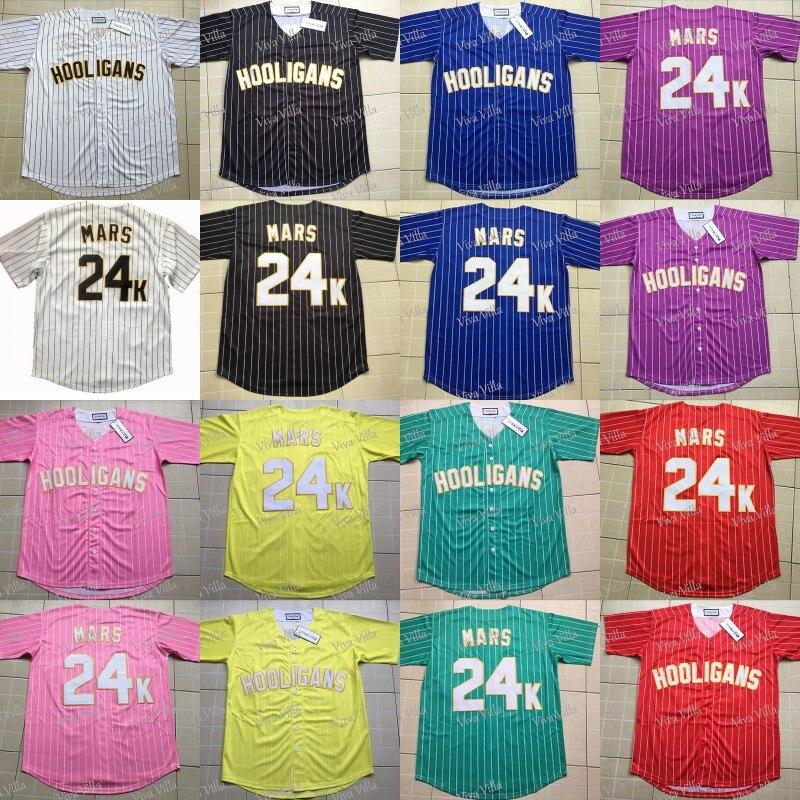 Women Baseball Jerseys Customized Bruno Mars 24K Hooligans BET Awards Jersey  Stitched Baseball Jersey S-4XL Free Shipping 51d0acaf9d