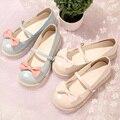 Японские Девушки Морские Раковины/Бантом Старинные Сладкая Принцесса Мэри Джейн Обувь Лолита Косплей Удобную Обувь