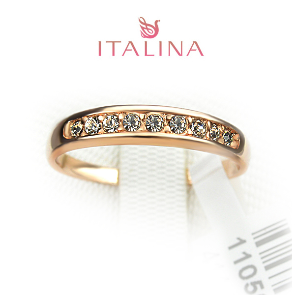 Fashion Italina Brand Ring Jewelry Size 3-10 Rose Gold Colors
