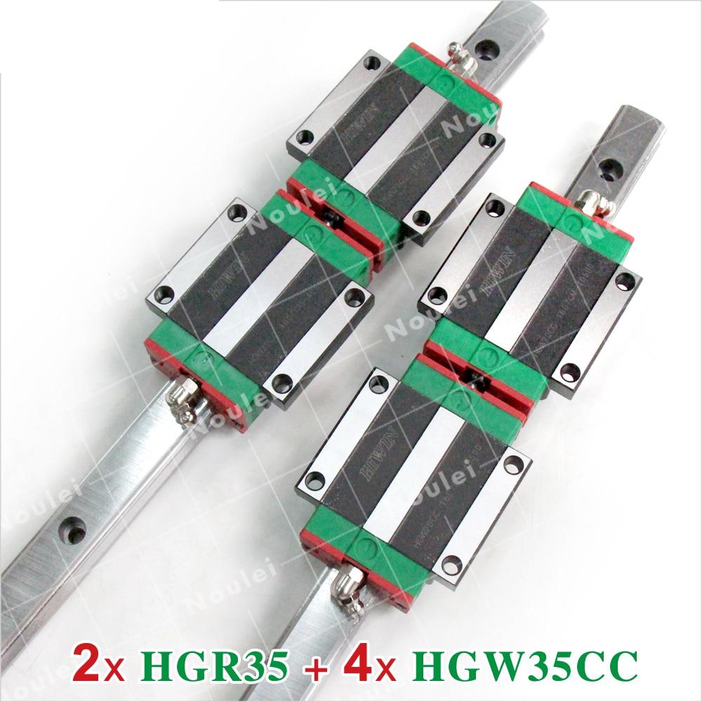HIWIN HG 35 Linear Motion Rails HGR35 witn 2pcs HGW35CA HGW35CC Guide Blocks 35mm CNC set Custom Length hiwin cnc guide rails 2pcs hgr35 linear rail 1200mm 4pcs hgw35cc hgw35ca cnc linear guide rail block