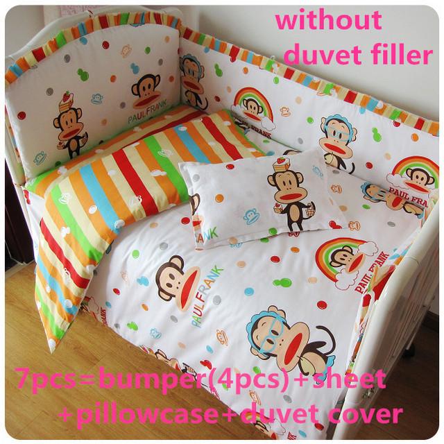 Promoção! 6 / 7 PCS conjunto de cama 100% cortina de algodão berço bumper berço conjuntos de cama bumper, 120 * 60 / 120 * 70 cm