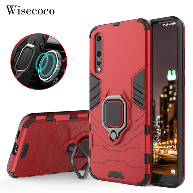best cheap 6fc6d 269f6 US $4.88 |Armor Magnetic Case for Huawei P20 Pro P20+ 360 Car Ring Holder  Stand Hard Back Cover for Funda Hawei Huwei P20 Lite Phone Cases-in Fitted  ...
