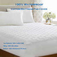 Queen 150X200CM Quilted Cotton Mattress Pad Cover For Bed Protection Waterproof Matress Cover For Foam Mattress Topper Cover