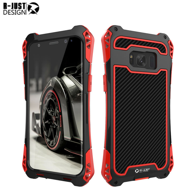 R just For Samsung S8 Plus Phone Metal Case Cover Fundas 5.8 6.2 inch Waterproof For Samsung
