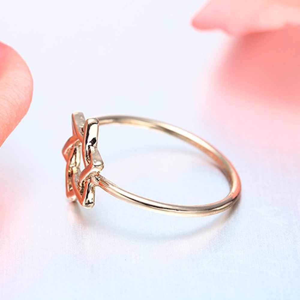 David żydowska Magen hebrajski tarcza pierścień Symbol gwiazdy pierścień biżuteria Midi pierścienie US7