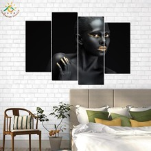 Fashion Girl Art  Modern Canvas Prints Poster Wall Painting Home Decoration Artwork Pictures for Bedroom 4 PIECES