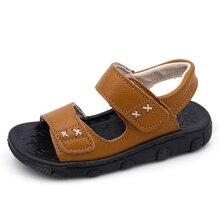 KINE PANDA Musim Panas Bayi Laki-laki Sandal Anak-anak Kulit Asli Sepatu Fashion Olahraga Anak-anak Sandal Tahan Lama Anak Laki-laki Sepatu Kasual 1-5Y