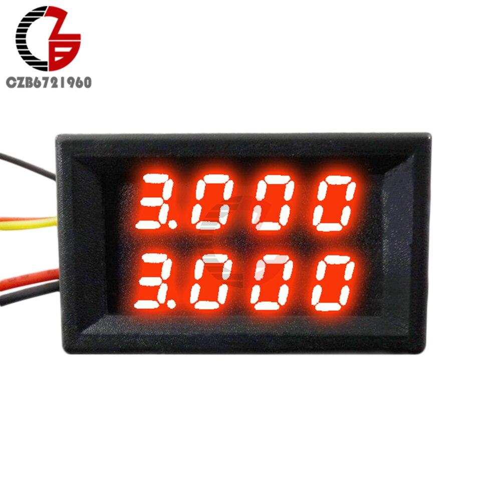 0.28/0.36/0.56 inch LED Digital Voltmeter Ammeter Car Motocycle Voltage Current Meter Volt Detector Tester Monitor Panel Red
