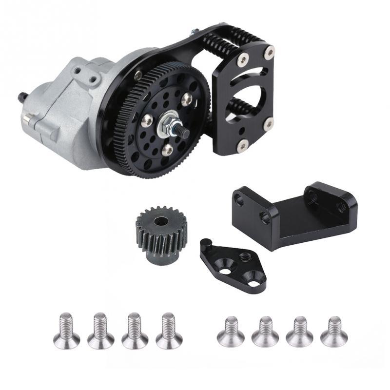 CJG006 boîtier de Transmission en métal avec engrenage moteur et support de montage pour SCX10 RC4WD D90 1/10 RC voiture télécommandée sur chenilles