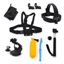 Sheingka For Gopro accessories set mount tripod for go pro hero 5 4 3 sjcam sj4000 for Go pro 5 kit xiaomi yi 4K camera