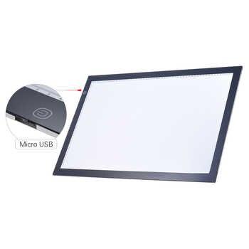 A2 Led ライトボックスパッド描画トレーストレーサーコピーボードテーブルパッドパネルコピーボードと無段階機能輝度制御
